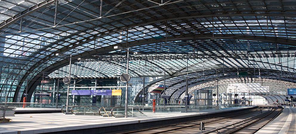 Estación de tren en Berlín